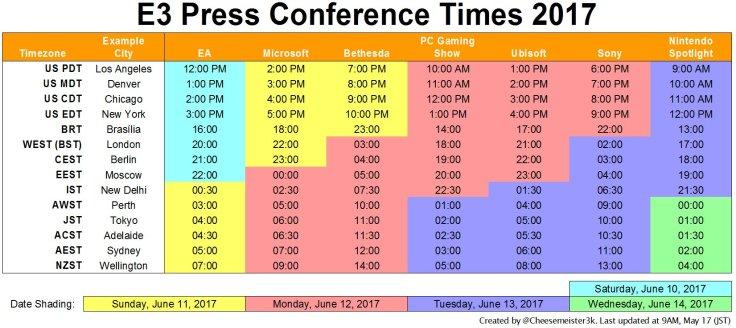E32017Schedule